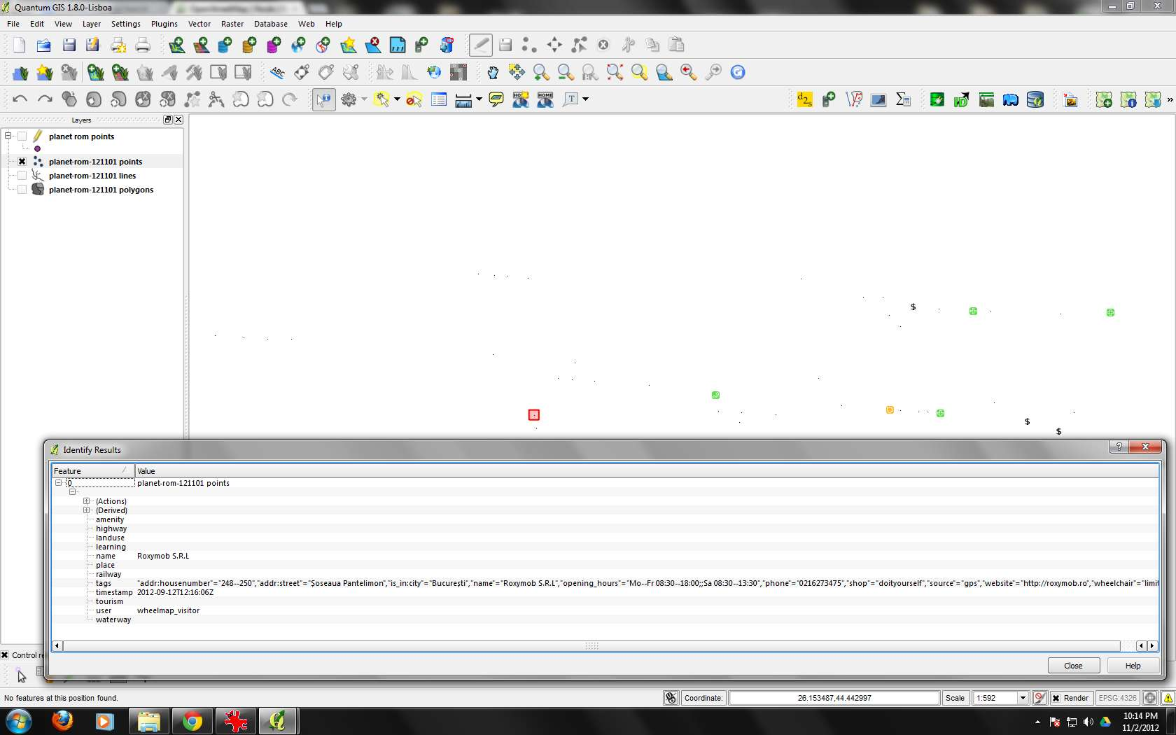 Bug report #6611: converting OSM file to shp losses data in