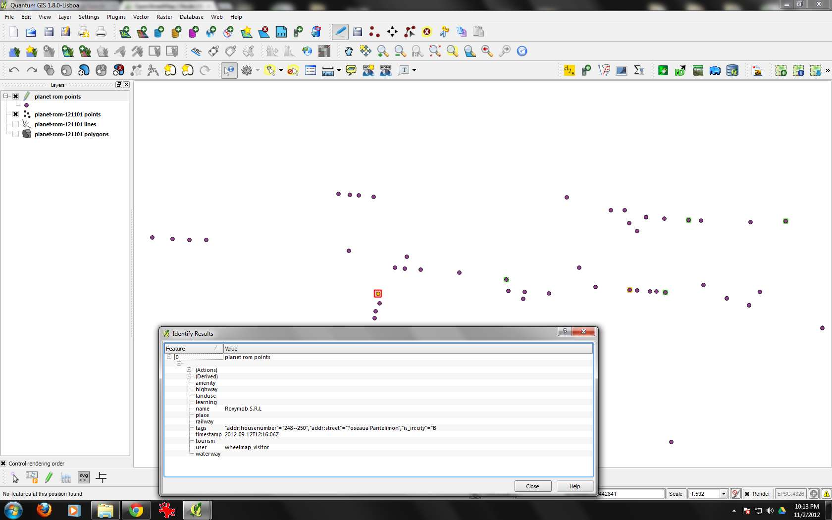 Bug report #6611: converting OSM file to shp losses data in the