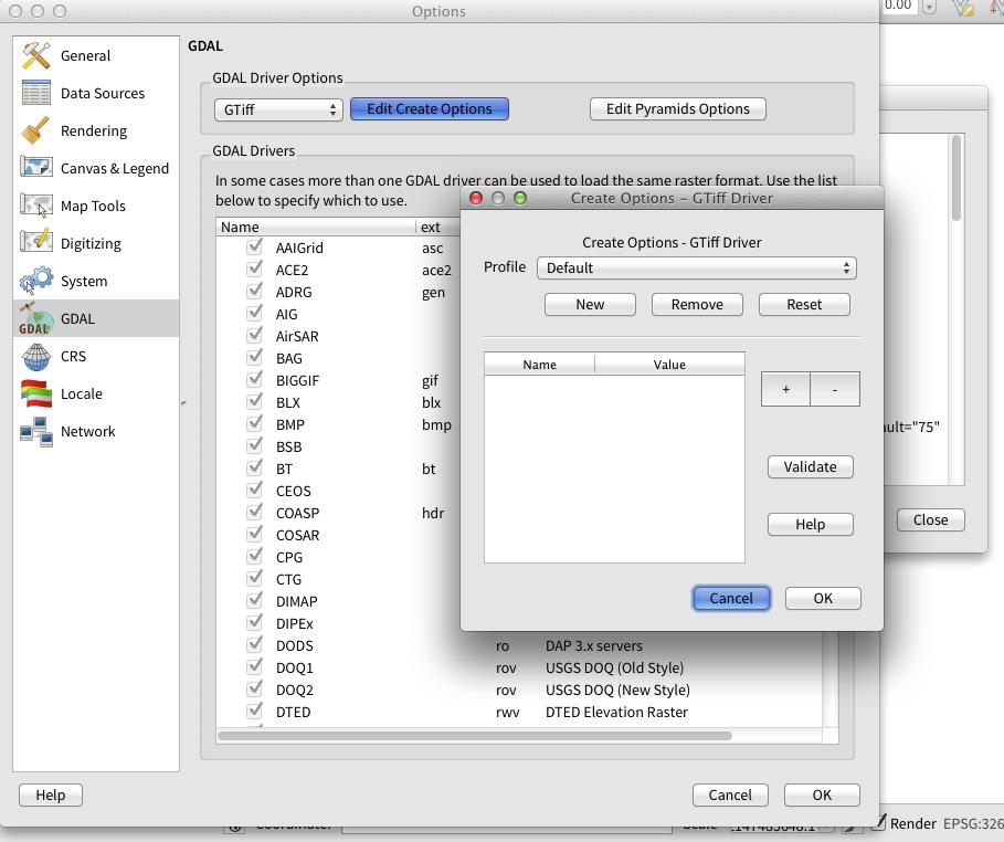 Bug report #6992: gui issues with QgsRasterFormatSaveOptionsWidget