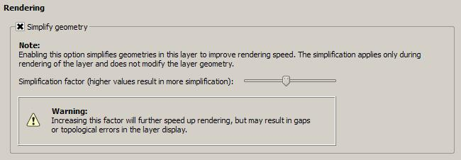 Feature request #8725: Speed improvement in the render of geometries