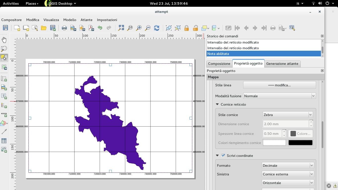 Bug report #10931: no zebra frame in print composer - QGIS