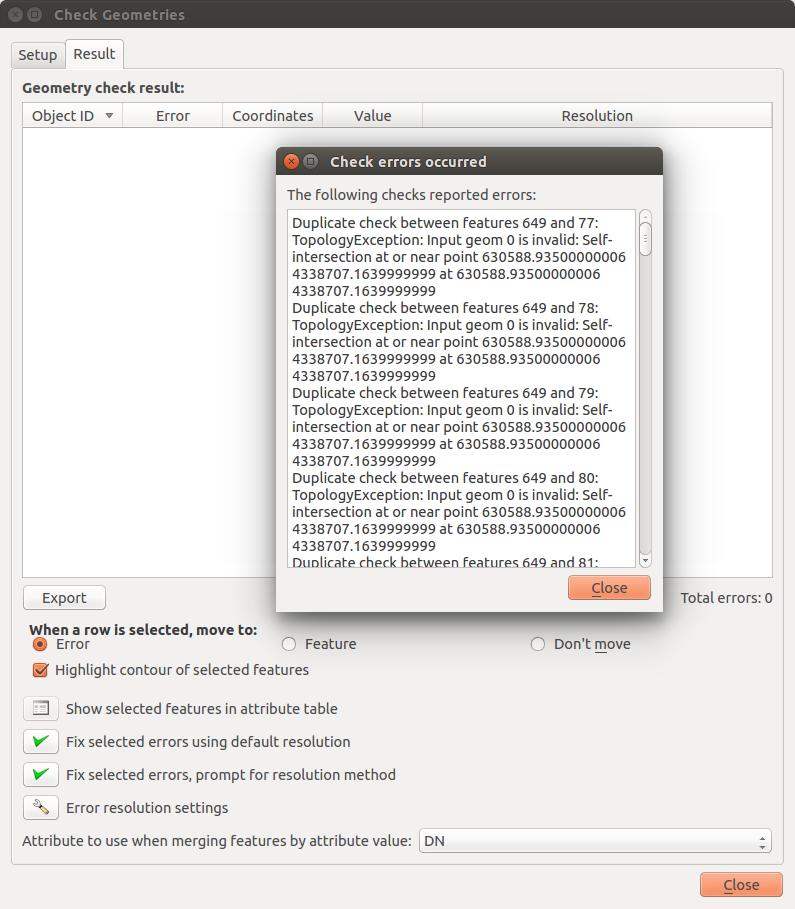 Bug report #13535: Crash using Geometry Checker plugin - QGIS
