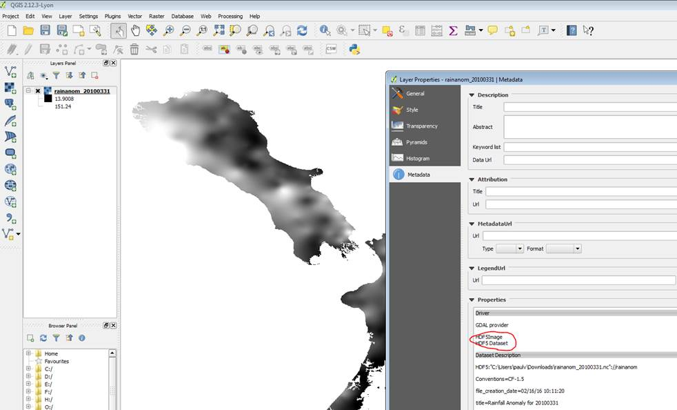 Bug report #14316: QGIS under Windows netCDF import reverses
