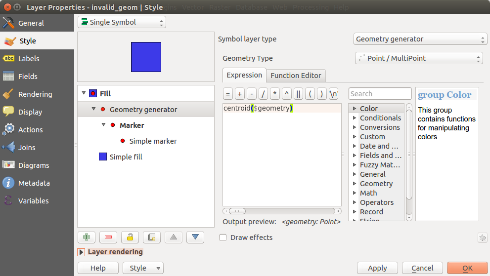 Bug report #14933: Geometry generator symbol layer crashes QGIS for ...